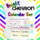 Want to brighten up your classroom? This calendar set in a bright chevron theme will do just that. This calendar set contains cards for:   - Months...