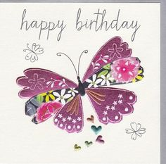 Birthday Quotes : Birthday Cards For Her Collection – Karenza Paperie Cute Happy Birthday Quotes, Happy Birthday Wishes For A Friend, Happy Birthday Flower, Birthday Card Sayings, Happy Birthday Pictures, Birthday Cards For Her, Butterfly Birthday, Happy Birthday Messages, Birthday Greeting Cards