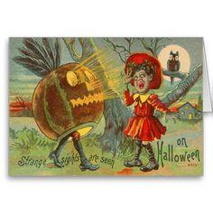 Frightened Child Owl Full Moon Jack O' Lantern
