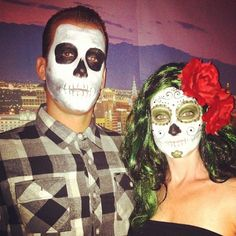 Day of the Dead makeup by Theresa H. #dayofthedead #sugarskull #halloween