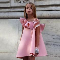 £6.38 GBP - Kids Toddler Baby Girl Off Shoulder Straps Casual Party Pageant Princess Dresses #ebay #Fashion