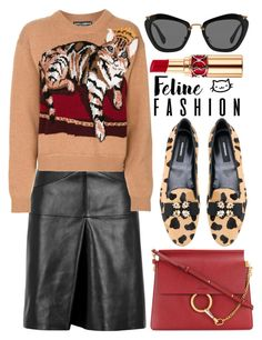 """Love Feline Fashion"" by alaria ❤ liked on Polyvore featuring Isabel Marant, Miu Miu, Dolce&Gabbana, Dsquared2, Yves Saint Laurent, Chloé and felinefashion"