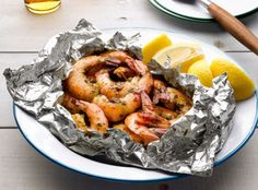Grilled Garlic Shrimp in Foil Recipe