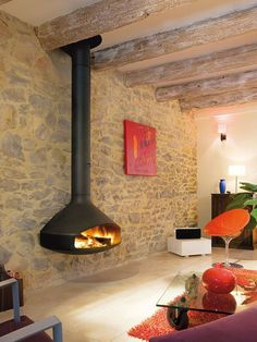 Best Traditional and Modern Fireplace Design Ideas Photos & Pictures Hanging Fireplace, Mounted Fireplace, Custom Fireplace, Stove Fireplace, Wood Fireplace, Modern Fireplace, Fireplace Ideas, Suspended Fireplace, Floating Fireplace