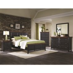 Country Cabin Rustic Brown/ Rubbed Black 5-piece Bedroom Set | Overstock.com Shopping - The Best Deals on Bedroom Sets