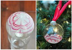 Glass ornaments with nail polish