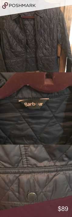 Women's Barbour jacket Black quilted lightweight Barbour jacket.  Great condition. Hard to find Barbour Jackets & Coats