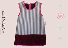 Robe trapèze, chasuble Bébé ☺Happy☺ 6/24 mois, robe tendance et moderne : Mode Bébé par lulu-proliam