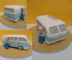 Kombi van Volkswagen birthday cake by Cake Art By Lauren
