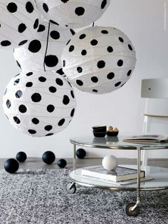 DIY Polka Dot Lamp