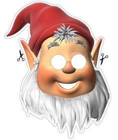 Printable Santa Mask Coloring Pages