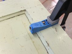 pocket hold jig from Kreg. This allows you to drill a hole at an angle.