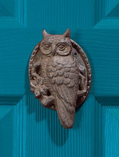 Owl doorknocker. More owl decor @BrightNest Blog