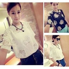 Buy 'QZ Lady – Short-Sleeve Mesh Rose T-Shirt' with Free International Shipping at YesStyle.com. Browse and shop for thousands of Asian fashion items from China and more!