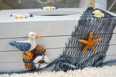 Aliexpress.com: Купить Новый ткани в средиземноморском стиле салфетки морской декор коробка ткани дым стол украшения дома ремесел ткань из Надежный ремесел дереву поставщиков на AIBEI Home Decoration