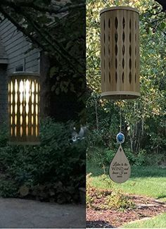 Solar Chime Memorial Wind Chime in memory of Loved One Bamboo Wind Chime Eternal light Memorial Garden or Porch Heaven day remembering mom miscarriage death of mother or father Bamboo Woodstock Chime