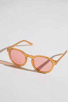 Koshka - Cheap Monday Circle Sunglasses in Mustard, �21,44 (http://www.shopkoshka.com/new-in/cheap-monday-circle-sunglasses-in-mustard/)