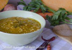 ricetta vellutata di zucca con orzo ricetta orzotto vegetariana primo gustoso con zucca