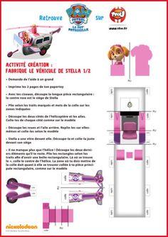 Stella te propose de construire son hélicoptère rose. Imprime et découpe vite ce magnifique Paper Toy de l'hélicoptère de Stella. Imprime gratuitement tous les coloriages et toutes les activités de Stella de la Pat'Patrouille sur TFou.fr.