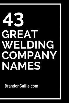 Welding company business plan
