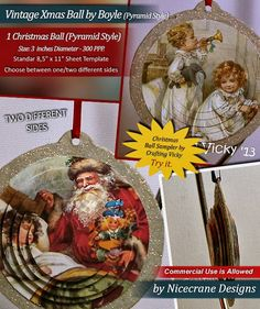 VINTAGE CHRISTMAS BALL BY BOWYLE