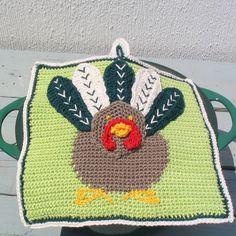 Turkey crochet potholder pattern Instant Download di DiGreenall
