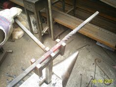 My tool for double twisting - posted in Tools and Equipment : Hi folks.Resently I was walking around trough the forum and saw very strange tool for double twisting.Unfortunately I cant remember the name who post it ,but he was used a wheel of bicycle which was welded to some bracked ....[OMG]To me its take too much time to do this,so my tool is very simple and dont need anything - just hot iron .In my case I used 12 mm square bar and  about 10 cm width/sorry but we use the metric system&...