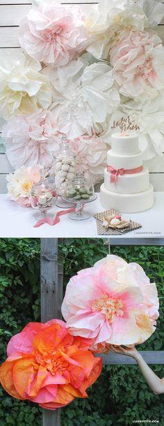 #coffeefilterflowers #weddingbackdrop #babyshowerdecorations www.LiaGriffith.com