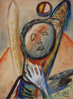 Weeping Angel by Imre Ámos Budapest, Jewish Art, Hungary, Female Art, Art Boards, Paper Art, Modern Art, Street Art, Old Things