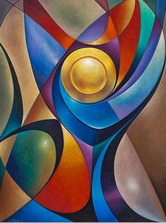 Dynamic Chalice Painting by Ricardo Chavez-Mendez Modern Art, Contemporary Art, Fractal Art, African Art, Love Art, Art Pictures, Art Drawings, Art Projects, Abstract Art