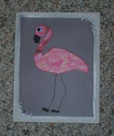 Flamingo Iris-Folded Card by FoldsWithLoveByHolly on Etsy, $4.00