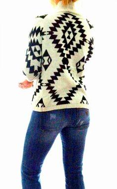Knit Aztec Design Cardigan