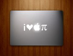 I ❤️ #Apple π | I Heart Apple Pi | I Love Apple Pie | Awesome Vinyl MacBook Decal for Us Nerds, Geeks, Dorks, Dweebs and Techy Peeps!