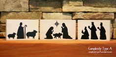 Simple nativity- great for a gift or craft night!