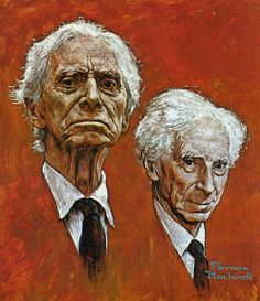 Portrait of Bertrand Russell -- Norman Rockwell
