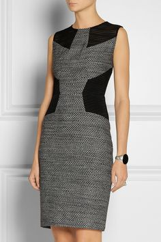 Jason Wu | Mesh-paneled tweed dress | NET-A-PORTER.COM