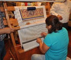 Rug maker, Kushadasi Turkey. A real talent. Yup, we bought one each visit.