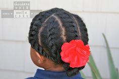Photos : 15 coiffures de petite fille pour cheveux crépus | PARENTS.fr Lil Girl Hairstyles, Natural Hairstyles For Kids, Afro Hairstyles, Protective Hairstyles, Black Hairstyles, Natural Hair Care, Natural Hair Styles, Twisted Hair, Adoption