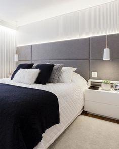 Rustic bedroom design - Quarto cinza 70 ideias cheias de estilo para adicionar a cor no ambiente Rustic Bedroom Design, Bedroom Bed Design, Home Bedroom, Modern Bedroom, Bedroom Furniture, Bedroom Decor, Master Bedroom, Bedrooms, Bedroom Sets