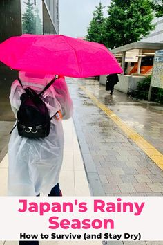 You'll see a lot of rain if you travel to Japan in June and July. Plan ahead by learning some simple strategies for staying dry during your trip! #rainseason #japan #traveljapan