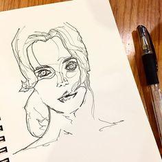 그림은 손이 가는대로 그리는게 맞는것 같다. '이럴땐 이렇게 그려야지'하고 그리면 대체로 몹쓸 그림이 나온다. @artgnu  #art #work #artwork #line #ink #pen #illust #illustration #illustrator #penillust #penillustration #hand #drawing #handdrawn #doodle #instaart #instaartist #artoftheday #blackandwhite #face #model #그림 #손그림 #일러스트 #펜 #펜일러스트 #낙서 #얼굴 #모델