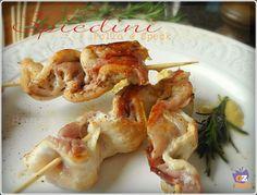 Spiedini di Pollo e Speck, idea finger food, con Petto di pollo e speck, ricetta facile e veloce. cottura in padella.