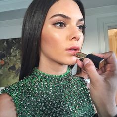 Kendall Jenner getting ready for the Met Gala 2015