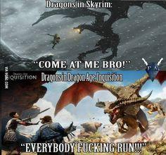 The Elder Scrolls V: Skyrim versus Dragon Age: Inquisition