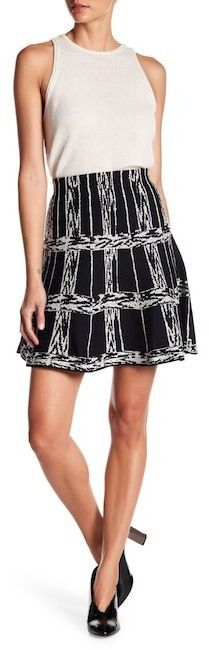 Nic+Zoe Windowpane Twirl Skirt