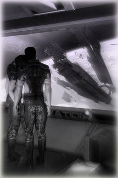 Shepard and Kaidan facing the aftermath, together.