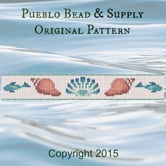 Down by the Sea Seed Bead Pattern Loom Cuff Bracelet PDF File Beaded Beadweaving Weaving Native American Tribal Immediate Download