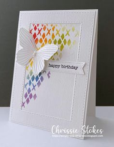 Homemade Stencils, How To Make Stencils, Happy Birthday April, Inka Gold, Stepper Cards, Simon Says Stamp Blog, Magazine Crafts, Christmas Challenge, Handmade Tags