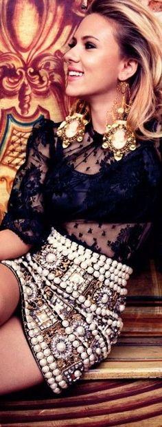 ➗scarlett johansson in pearls