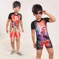 3330b18169 2017 2015 New Surf Clothing Set Boys Swimsuit Fashion Radiation Suit Kids  Rash Guard Spider Man Short Sleeve Swimwear Smile Mall From All_sport, ...